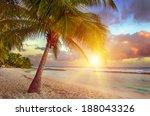 beautiful sunset over the sea...   Shutterstock . vector #188043326