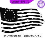 betsy ross 1776 13 stars... | Shutterstock .eps vector #1880507752