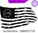 betsy ross 1776 13 stars... | Shutterstock .eps vector #1880507755