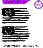 betsy ross 1776 13 stars... | Shutterstock .eps vector #1880507758