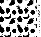seamless pattern with fruits... | Shutterstock . vector #188051636