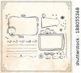 vintage frames and design... | Shutterstock .eps vector #188055368