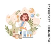 scientist or pharmacist invents ... | Shutterstock .eps vector #1880556628