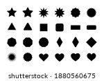 basic shapes for design. stars  ... | Shutterstock .eps vector #1880560675