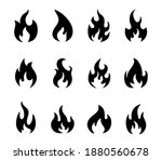 fire flame icons. burning flame ... | Shutterstock .eps vector #1880560678
