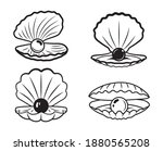 set of seashell with a pearl....   Shutterstock .eps vector #1880565208