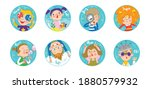 collection of stickers. funny...   Shutterstock .eps vector #1880579932