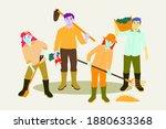 organic farming concept. eco... | Shutterstock .eps vector #1880633368