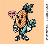 surfing pineapple cartoon...   Shutterstock .eps vector #1880679235