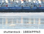 Ships Frozen In Ice And Snow At ...