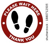please wait here thank you keep ...   Shutterstock .eps vector #1880712505