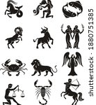 zodiac sign icons. vector... | Shutterstock .eps vector #1880751385