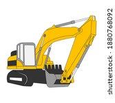excavator icon. excavator icon...
