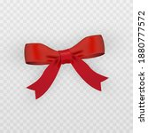 vector red bow. red bow png.... | Shutterstock .eps vector #1880777572
