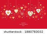 valentines day festive design... | Shutterstock .eps vector #1880783032