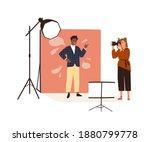 Portrait Photography Backstage. ...
