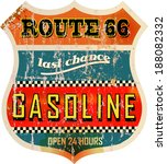 vintage route sixty six gas... | Shutterstock .eps vector #188082332
