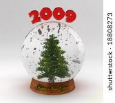 snow dome with christmas tree | Shutterstock . vector #18808273