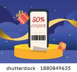 store issues a 50 percent... | Shutterstock .eps vector #1880849635