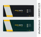 email signature template design ...   Shutterstock .eps vector #1880891125