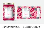 label and packaging of red... | Shutterstock .eps vector #1880902075