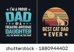 best cat dad ever t shirt... | Shutterstock .eps vector #1880944402