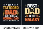 best dad in the galaxy t shirt... | Shutterstock .eps vector #1880944405