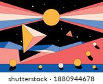 abstract space illustration ... | Shutterstock .eps vector #1880944678
