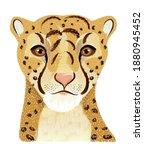 leopard portrait. graphic print ... | Shutterstock .eps vector #1880945452