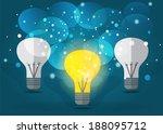 idea concept. vector eps10. | Shutterstock .eps vector #188095712