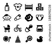 baby icon set | Shutterstock . vector #188098238