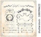 vintage frames and design... | Shutterstock .eps vector #188098622