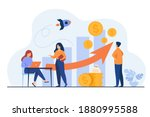 startup managers presenting and ... | Shutterstock .eps vector #1880995588