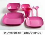 a set of plastic dishes for a...   Shutterstock . vector #1880998408