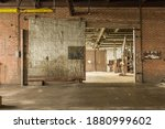 Large Metal Barn Door Left Open ...