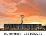 Ship's Forward Mast On Solar...