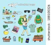 backpackers world. travel.... | Shutterstock .eps vector #188100326