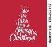 merry christmas red hand... | Shutterstock .eps vector #1881011692