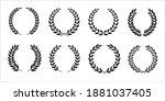 set of black and white... | Shutterstock .eps vector #1881037405