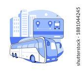 public transport travel pass... | Shutterstock .eps vector #1881044245