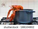 Red Lobster On The Stove On The ...