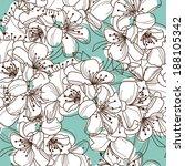 elegant seamless pattern with... | Shutterstock .eps vector #188105342