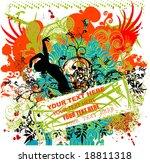 party retro background   vector ... | Shutterstock .eps vector #18811318
