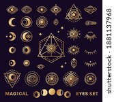 Sacred Geometry Forms With Moon ...