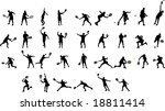 tennis silhouettes | Shutterstock .eps vector #18811414