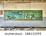 Ruined Board In An Abandoned...