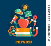 ������, ������: Physics science flat design