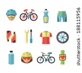 bicycle sport fitness icons set ... | Shutterstock .eps vector #188115956