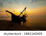 Seascape Silhouette Fisherman...