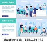 patients people wait doctor... | Shutterstock .eps vector #1881196492
